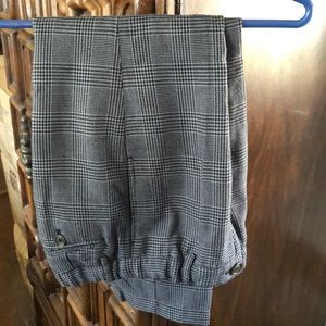 E-land herringbone plaid dress pants, age 8 boys